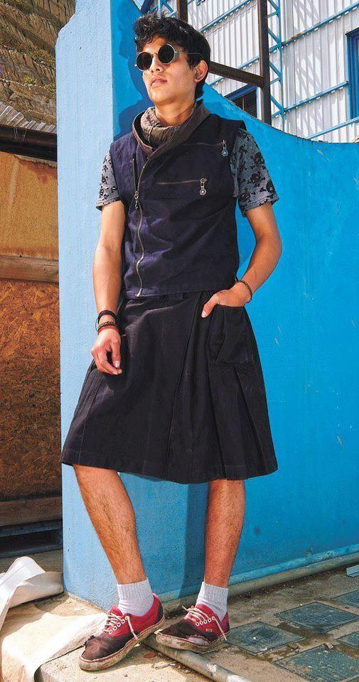 Anyone can wear a Skirt