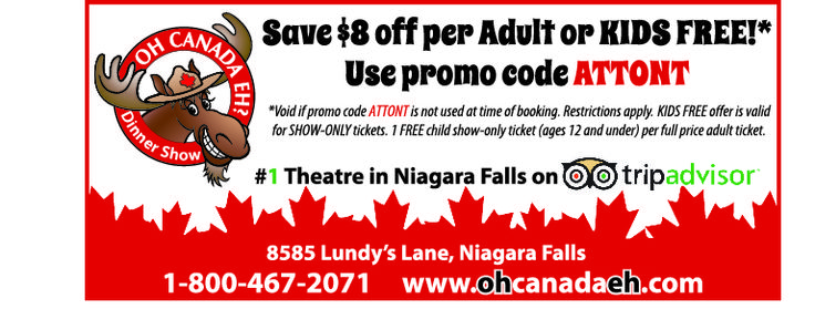 Oh Canada Eh? Dinner Show - 2015 Summer Coupon