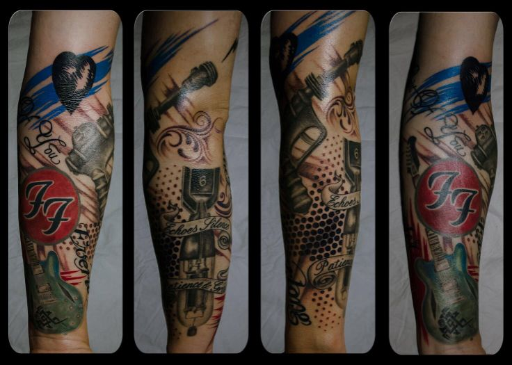 Foo Fighter Tattoo sleeve