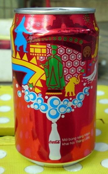 2010 Vietnam coca cola Hanoi city 1000 ANNI can