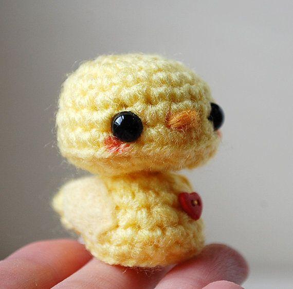 Baby Yellow Chick Kawaii Mini Amigurumi by twistyfishies on Etsy