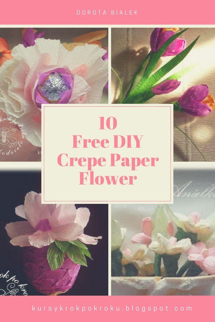 10 Free DIY Crepe Paper Flower