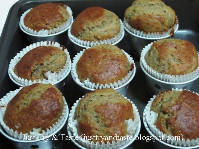 Resep Muffin Pisang Banana Muffin Kue Lezat Makanan Makanan Dan Minuman