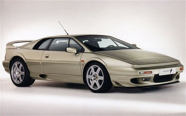 Lotus Esprit V8   The Esprit V8 of 1996 used a new Lotus-designed all-aluminium engine with twin    turbochargers. It was rumoured to have been detuned significantly in order    to protect the car's potentially fragile Renault transaxle