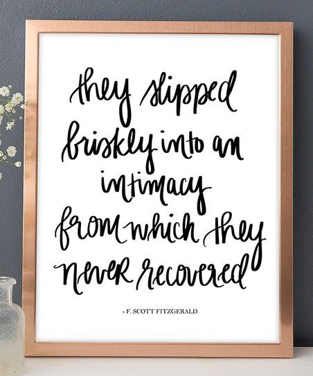 Sweet Water Decor They Walked Briskly F. Scott Fitzgerald Quote Print | zulily