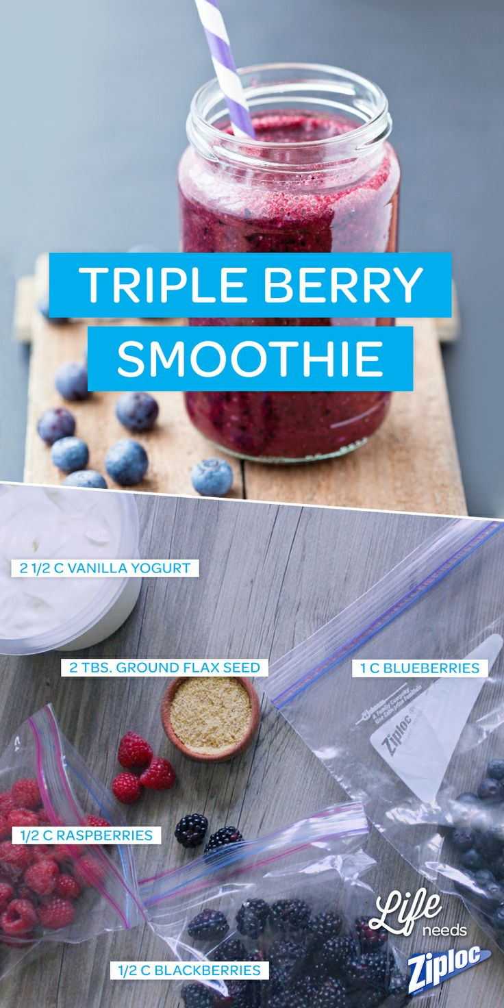 Who doesn't love a fresh fruit smoothie? This triple berry smoothie recipe is the perfect frozen snack for a hot summer day. If you don't have fresh berries, frozen are fine too; they'll add a nice icy crunch!