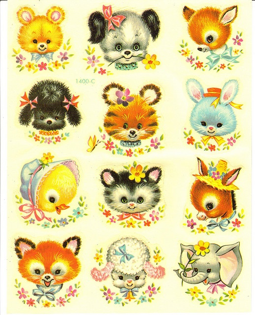 vintage decals (usually used for cribs, dressers, child's rocking chairs, etc)