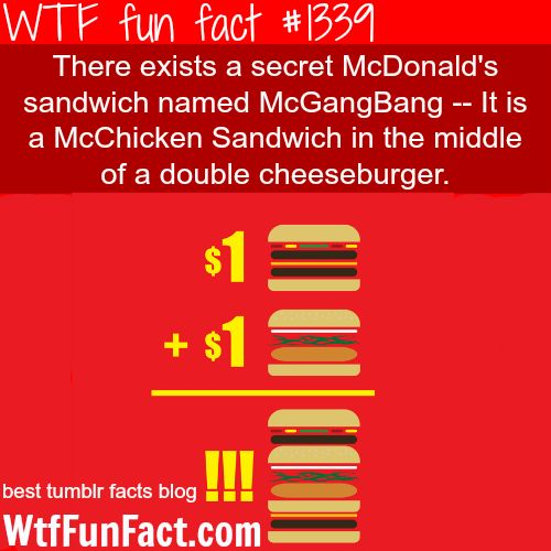 Mcdonalds   Sandwich McGangBang MORE OF WTF FUN FACTS Are Coming HERE Food,  HEALTH And