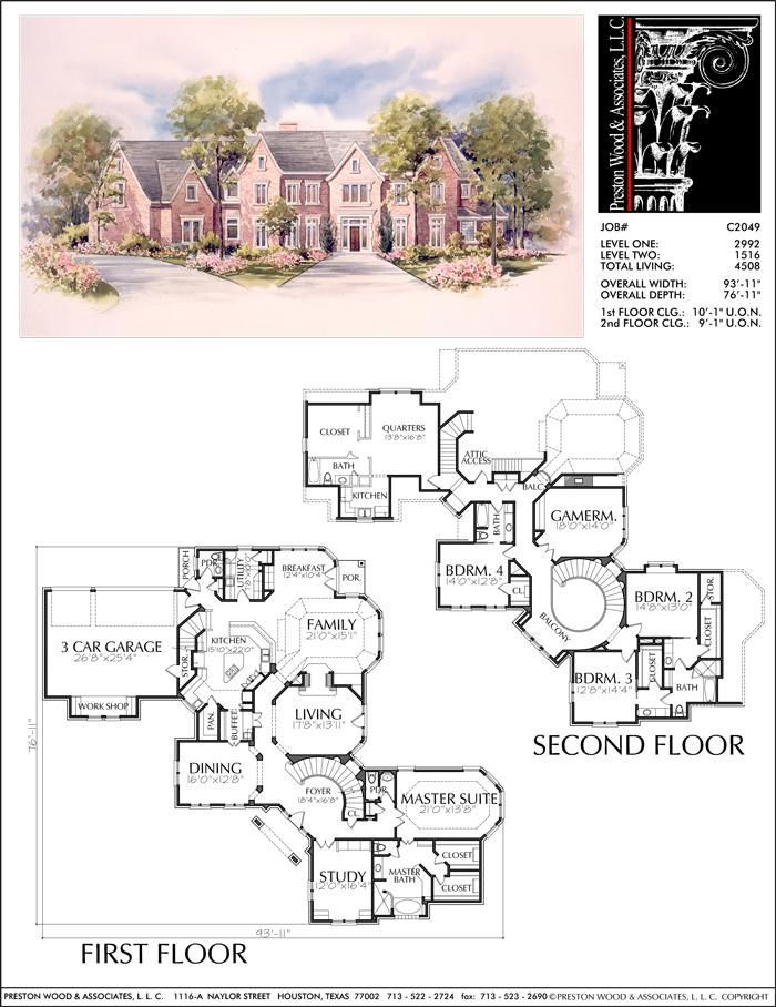 2 Story House Plan Residential Floor Plans Family Home Blueprints D Prest 2 Story House Pl House Blueprints Two Story House Plans Mansion Floor Plan