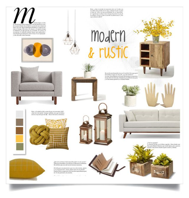 modern and rustic by levai-magdolna on Polyvore featuring interior, interiors, interior design, home, home decor, interior decorating, Blu Dot, Cost Plus World Market, Flamant and West Elm