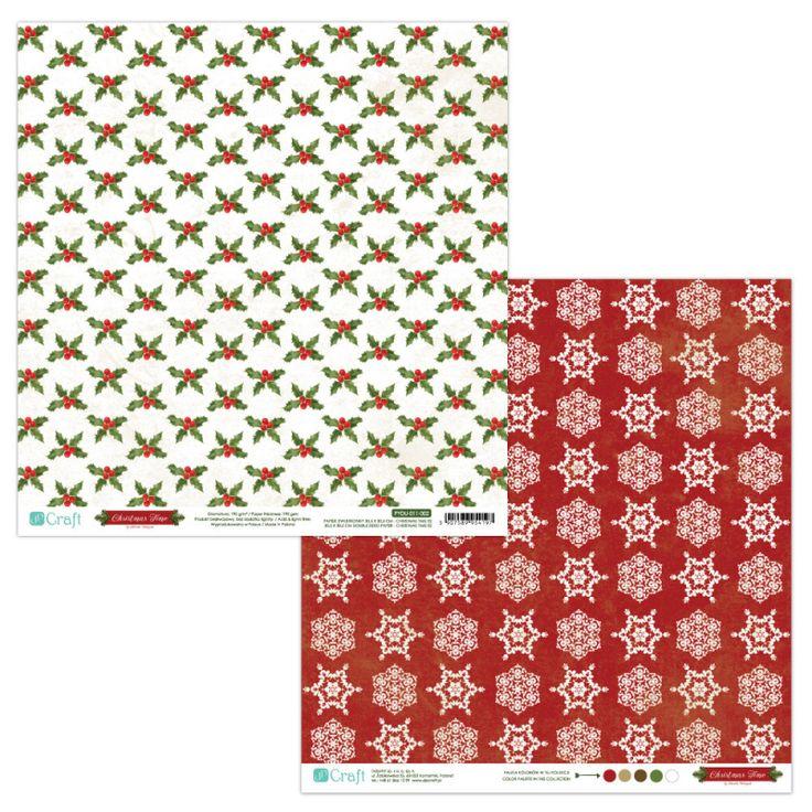 PAPIER DWUSTRONNY 30,5 X 30,5 CM - CHRISTMAS TIME 02