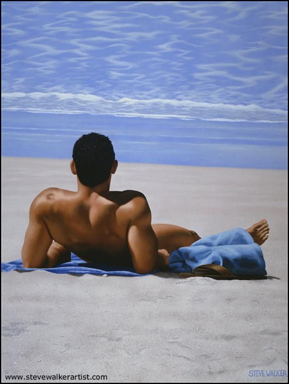 Steve Walker Art - Laid Back  #gayart #stevewalker