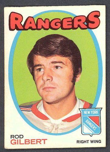 1971 72 Topps 123 ROD GILBERT N Y RANGERS EX HOCKEY CARD #NewYorkRangers