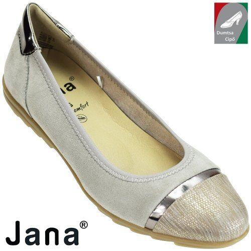 Jana női bőr cipő 8-22104-20 204 világosszürke kombi  2fcdc0ef75