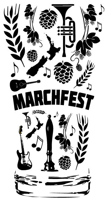 This logo was created for the annual MarchFest held in Nelson, New Zealand. Hops, music = good times!