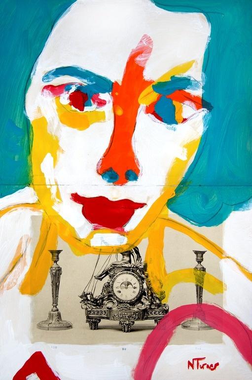 "Saatchi Online Artist: Neal Turner; Acrylic, 2011, Painting ""Portrait d'Elizabeth Taylor (Portrait of Elizabeth Taylor)"""