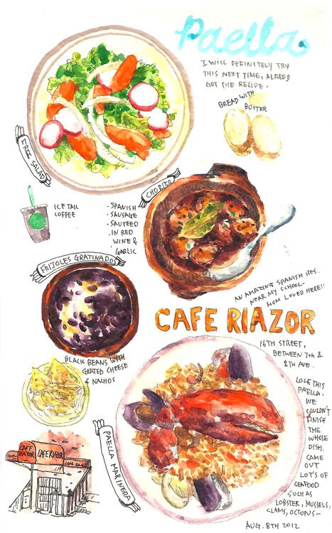 August 8th, 2012 Cafe Riazor, Spanish restaurantGreat Spanish restaurant near my school! Love their paella..