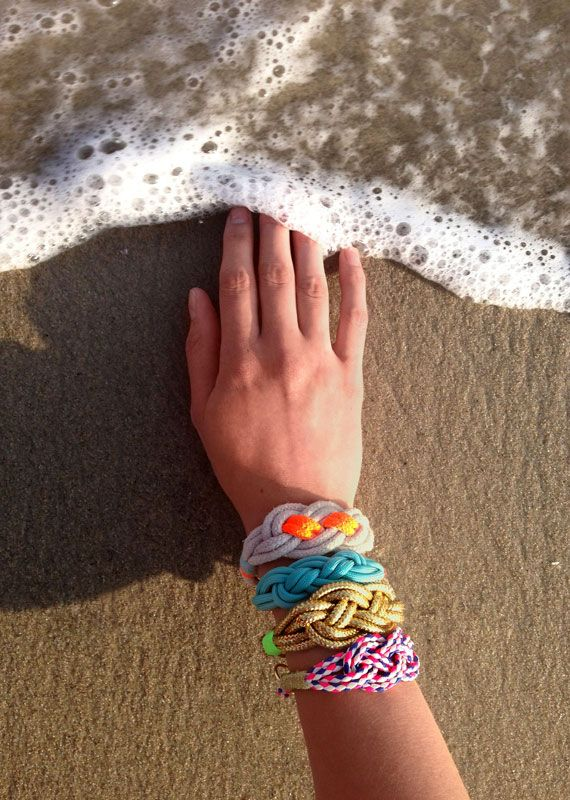 Nautical knot bracelet tutorial