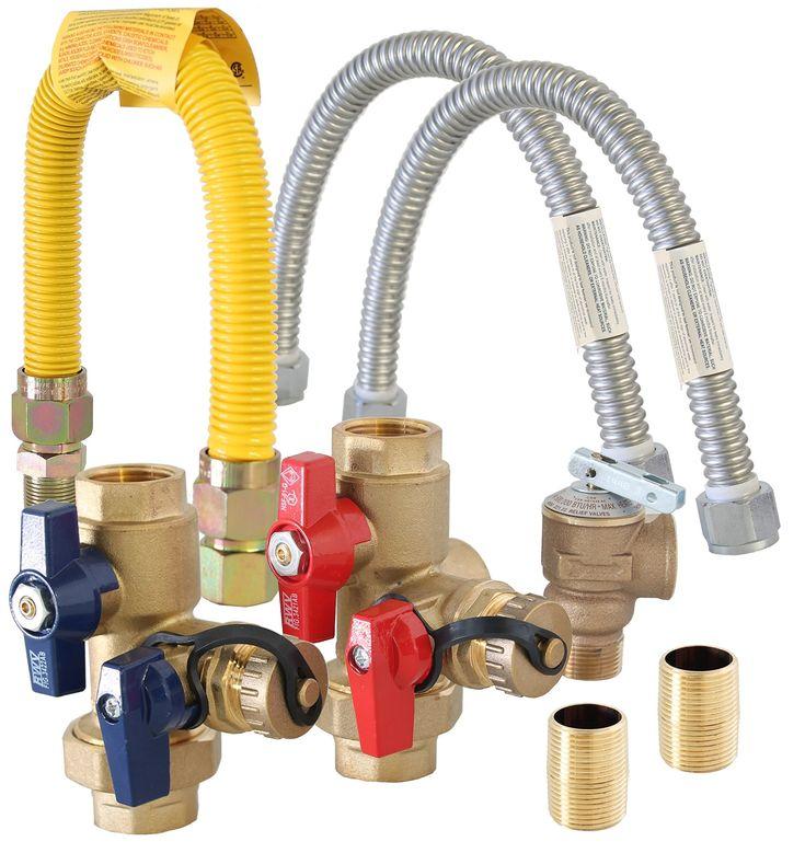 "Metpure 3/4"" Gas Tankless Water Heater Isolation Installation Complete Kit Lead-Free TKLS-CK"