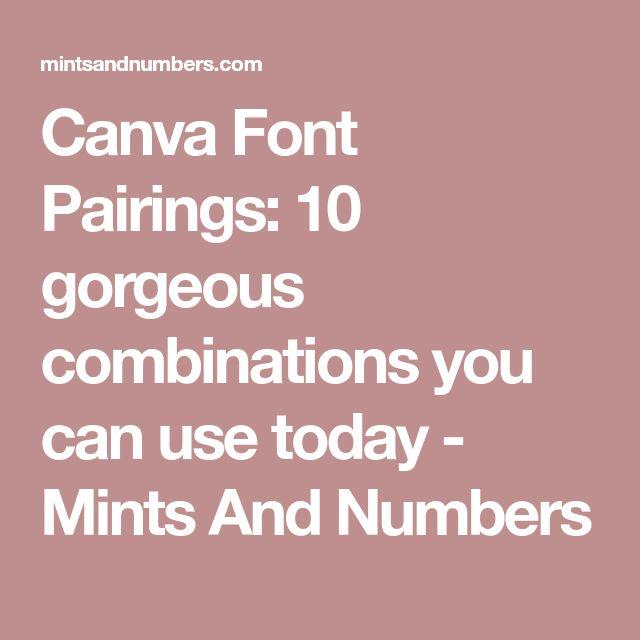 The 25 best Font pairings ideas on Pinterest