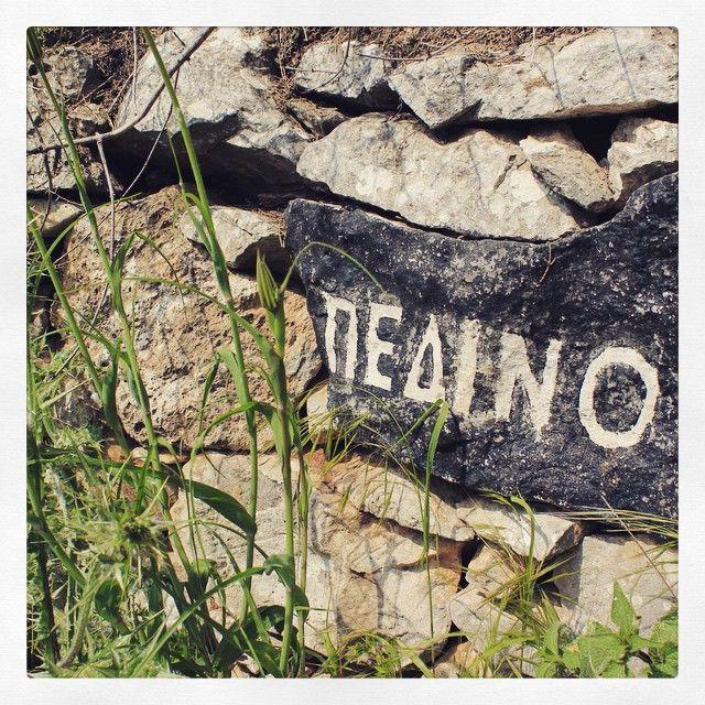 Beautiful lettering. Found on Kalderimi into Pedino, near Tseria, Mani, Greece