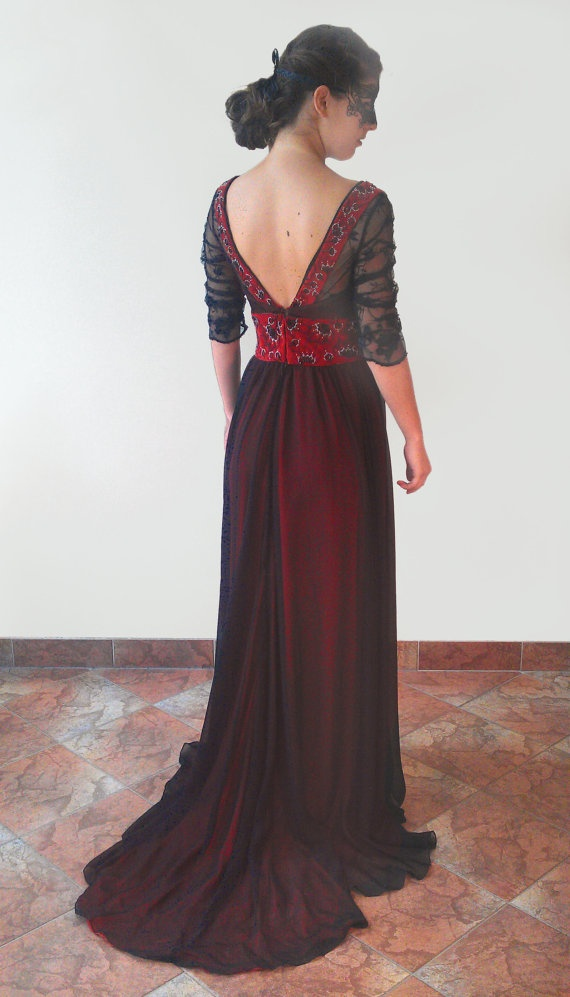 Art Nouveau Titanic Jump Dress Inspired Evening Gown With