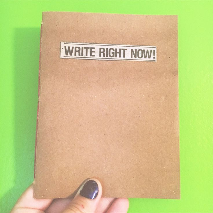 A personal favorite from my Etsy shop https://www.etsy.com/ca/listing/553055331/write-right-now-notebook