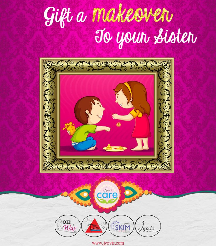 How about ‪#‎gifting‬ a classy ‪#‎makeover‬ to your brother or sister ????  On this ‪#‎rakshabandhan‬, Celebrate the Festival of togetherness, nostalgic childhood memories, unlimited fights with your siblings and infinite love for each other with Jyovis ...  Its time to create some long last Valid till 10th September 2015 To Book Appointment, call : 02242147788 / 02224217707 visit : www.jyovis.com ‪#‎Beauty‬ ‪#‎love‬ ‪#‎togetherness‬ #sister ‪#‎rakhi‬ #rakshabandhan ‪#‎bond‬ ‪#‎InfiniteLove‬
