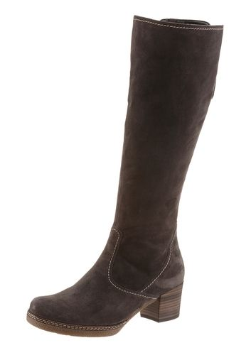 #GABOR #Damen #Stiefel #braun - Stiefel von Gabor aus Leder. - Verschluss: Reißverschlüsse. - Laufsohlenmaterial: Synthetik.