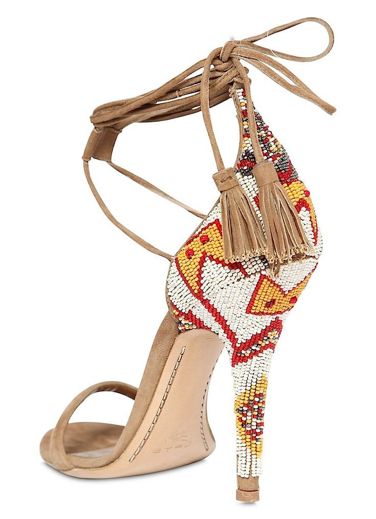 Etro SS 2015 embellished suede sandal. | my sexy shoes 2