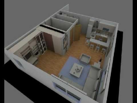 MONELLO MOBİLYA tek odalı konutlar için hareketli duvar ile daha fazla yasaşm alanı for single room home ; movable wall for more live spaces www.gaysan.com