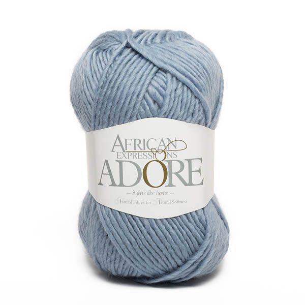 Colour Adore Light blue, Chunky weight, African expressions 8299, knitting yarn, knitting wool, crochet yarn, kid mohair yarn, merino wool, natural fibres yarn.