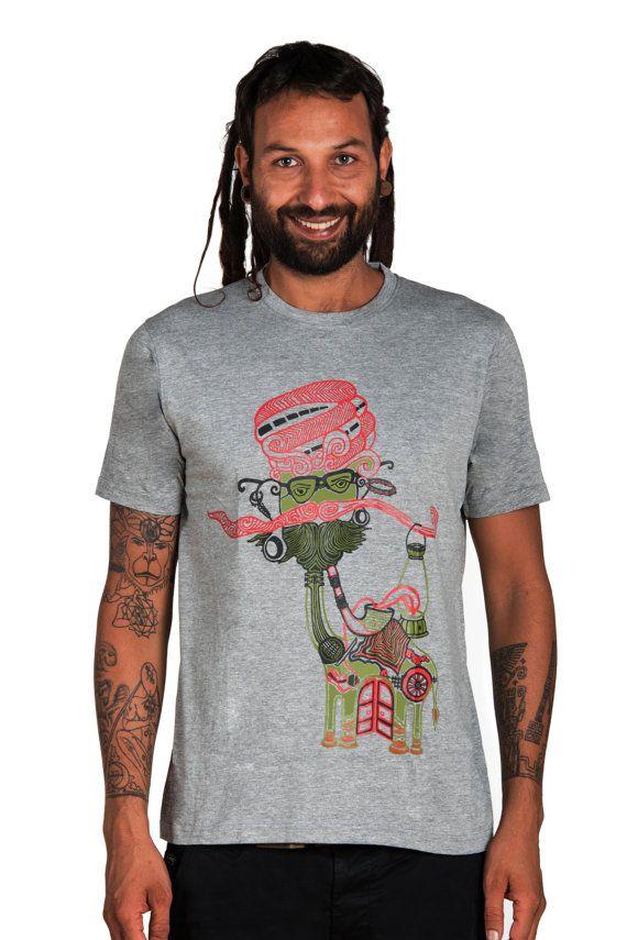 Camel T shirt Indian Art T shirt Moustache Man T shirt- Graphic Tees