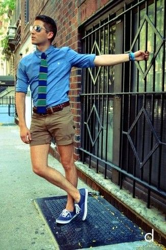 khaki shorts oxford tie -blazer - Google Search