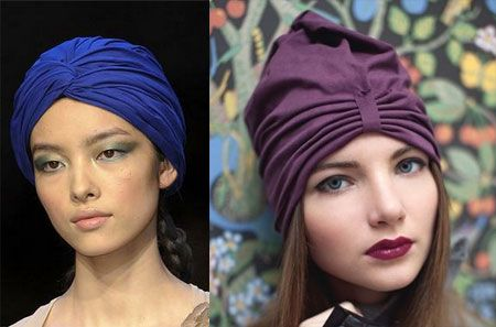 стильные головные уборы тюрбан