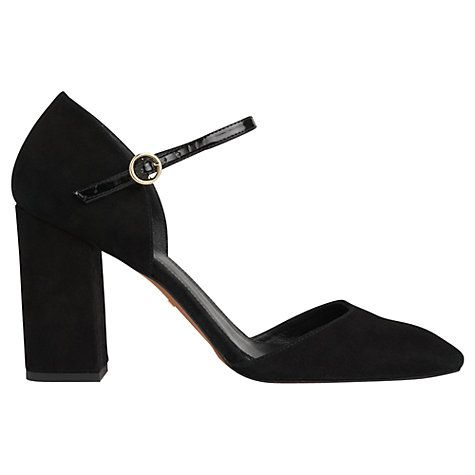 Buy Whistles Jackson Two Part Court Shoes, Black Online at johnlewis.com 105