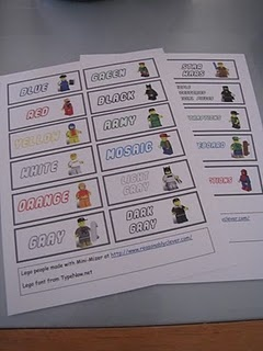 Lego Storage Ideas & FREE Downloadable Lego Labels to sort by color.