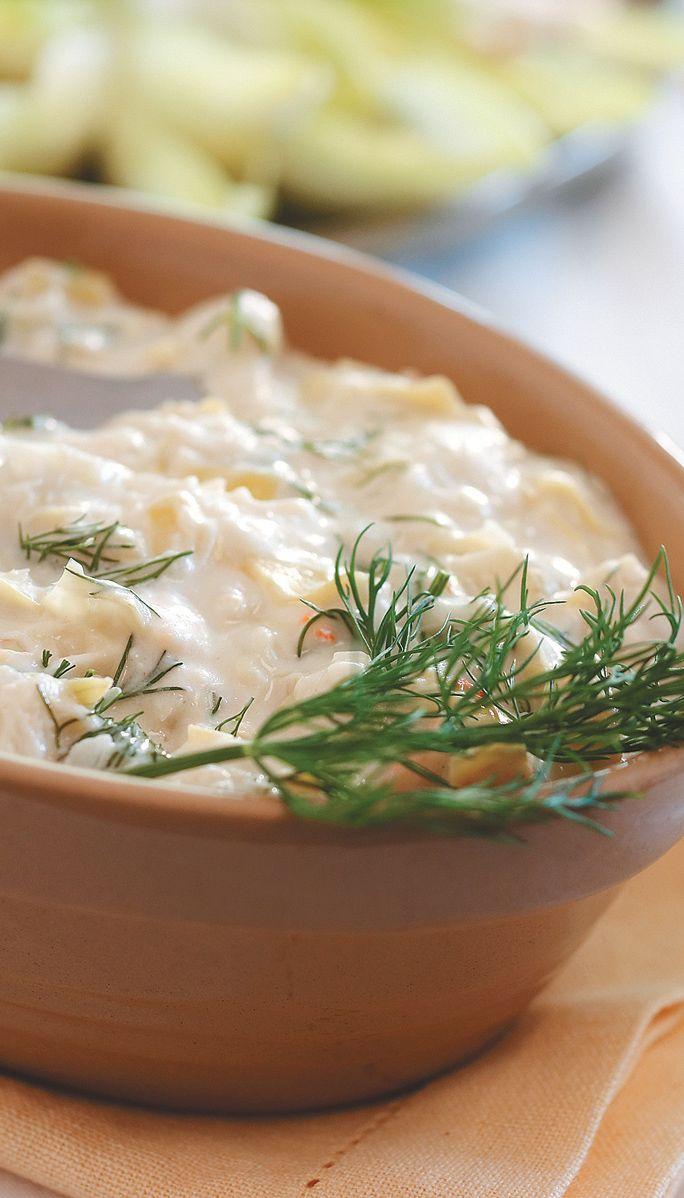 Artichoke and Crab Dip Recipe. #SaveOnFoods #Recipe #Artichoke #Crab #Dip #Appy #Appetizer