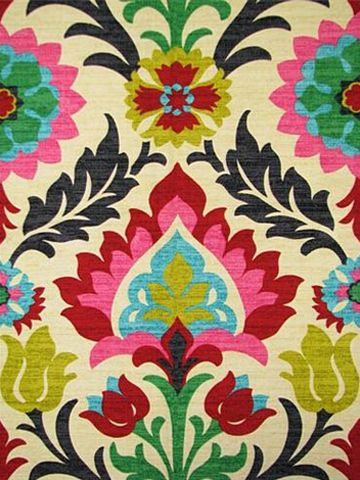 Forsyth Fabrics Santa Maria Desert flower - great for my two little chairs that need to be recovered