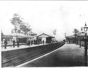 Strathfield Railway Station ~ Strathfied, NSW ca.1885-1900  v@e