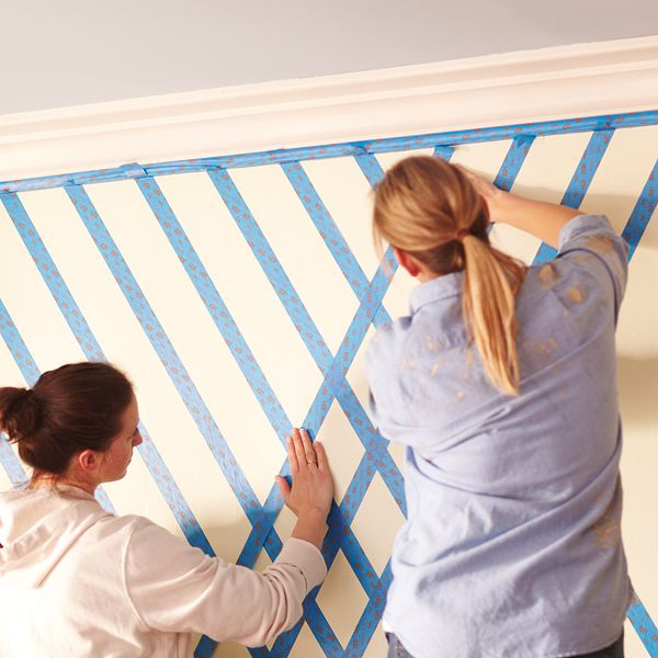 DIY Project: Completing Diamond Pattern for Lattice Wall Pattern
