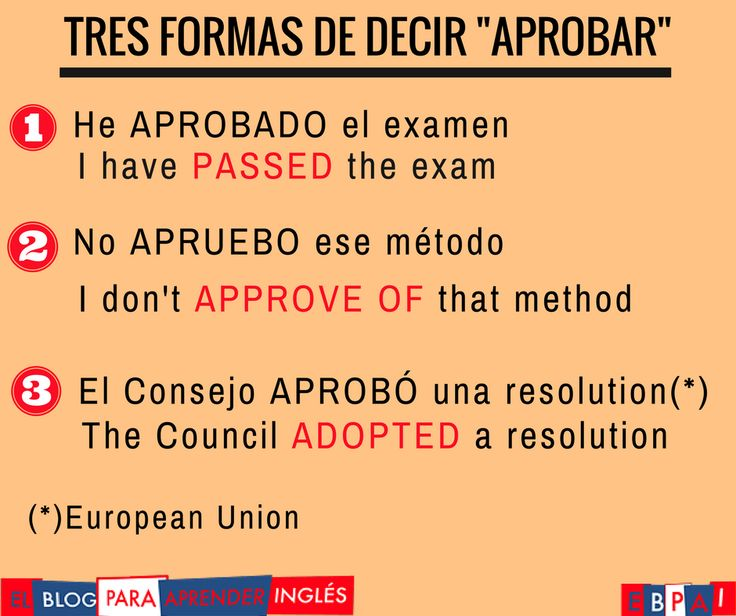 Spanish vocabulary - Aprobar
