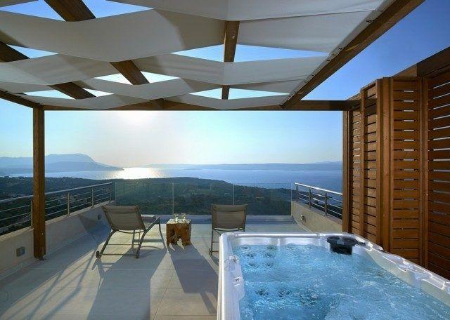 Más de 50 fotos de ideas para Jacuzzis de exterior:En una terraza. ¿Podríais esto en vuestra terraza?