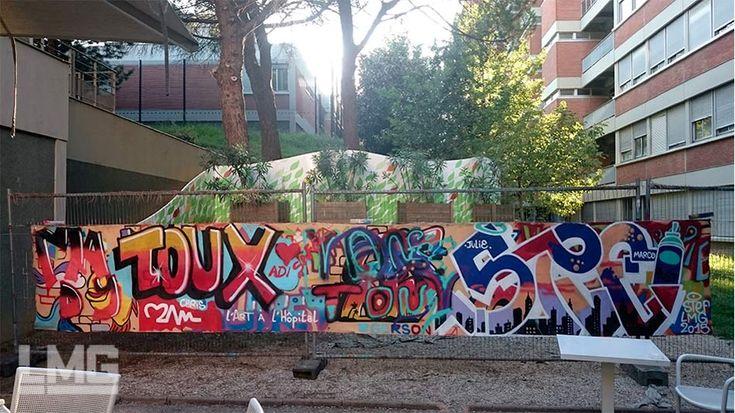 graffiti street-art LMG Le Mouvement Graphique hôpital rangueil toulouse