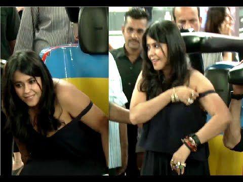WATCH Ekta Kapoor's OOPS MOMENT at the trailer launch of FLYING JATT. See the full video at : https://youtu.be/0AkzcGbVC9U #ektakapoor