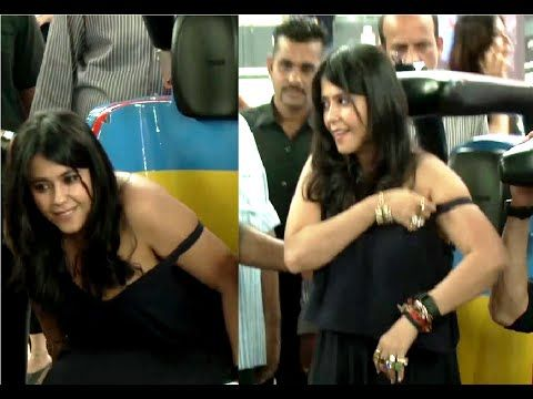 WATCH Ekta Kapoor's OOPS MOMENT at the trailer launch of FLYING JATT. See the full video at : https://youtu.be/0AkzcGbVC9U #ektakapoor