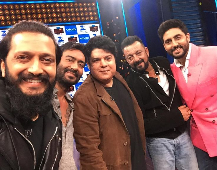 The Mega Episode of #YaaronKiBaraat - the yaars @ajaydevgn @sanjaydutt_ @bachchan -thank you so much- love Sajid Khan