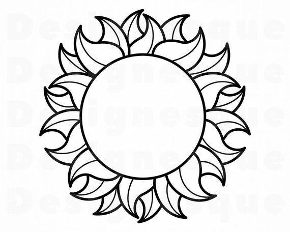 Sun Outline Svg Sun Svg Summer Svg Sun Clipart Sun Etsy Sun Clip Art Sun Outline Clip Art