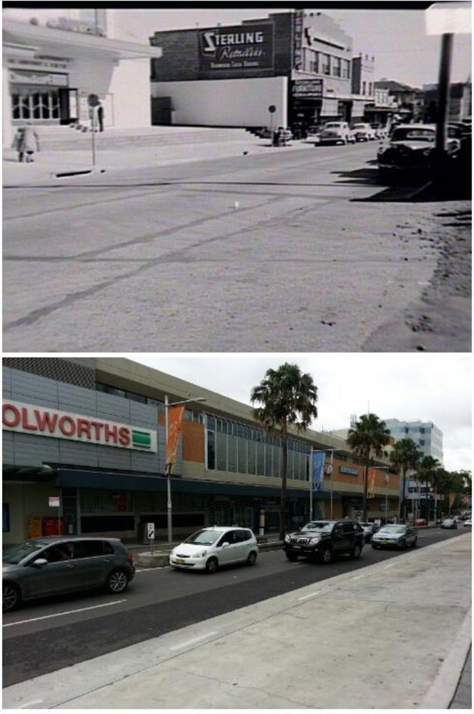 Railway Parade Burwood Showing The Palatial Cinema In 1957 And 2015 Now A Shopping