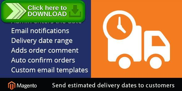 [ThemeForest]Free nulled download Magento Delivery Date Notifications from http://zippyfile.download/f.php?id=48175 Tags: ecommerce, admin delivery date, delivery date, delivery notification, extension, magento, set delivery date